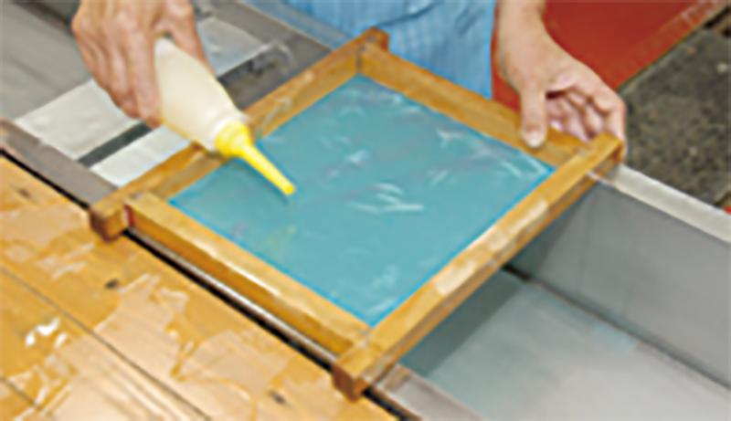 小原工芸和紙の制作実習